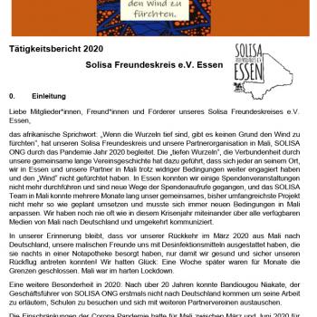 Tätigkeitsbericht 2020 - Solisa Freundeskreis e.V. Essen
